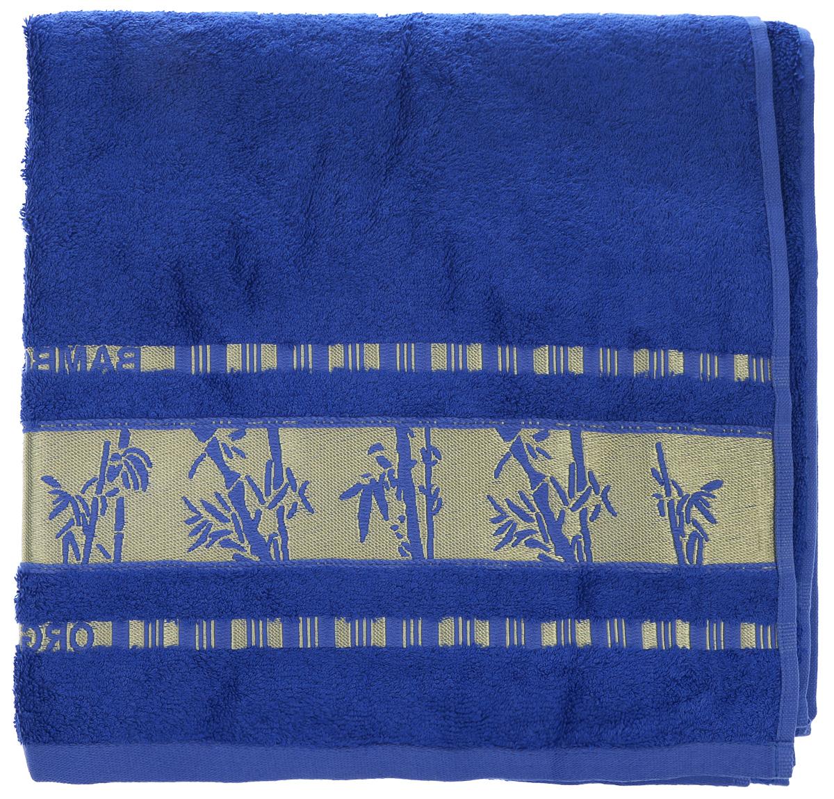 Полотенце Mariposa Bamboo, цвет: синий, золотистый, 70 х 140 см52923Полотенце Mariposa Bamboo, изготовленное из 60% бамбука и 40% хлопка, подарит массу положительных эмоций и приятных ощущений. Полотенца из бамбука только издали похожи на обычные. На самом деле, при первом же прикосновении вы ощутите невероятную мягкость и шелковистость. Таким полотенцем не нужно вытираться - только коснитесь кожи - и ткань сама все впитает! Несмотря на богатую плотность и высокую петлю полотенца, оно быстро сохнет, остается легким даже при намокании. Полотенце оформлено изображением бамбука. Благородный тон создает уют и подчеркивает лучшие качества махровой ткани. Полотенце Mariposa Bamboo станет достойным выбором для вас и приятным подарком для ваших близких.
