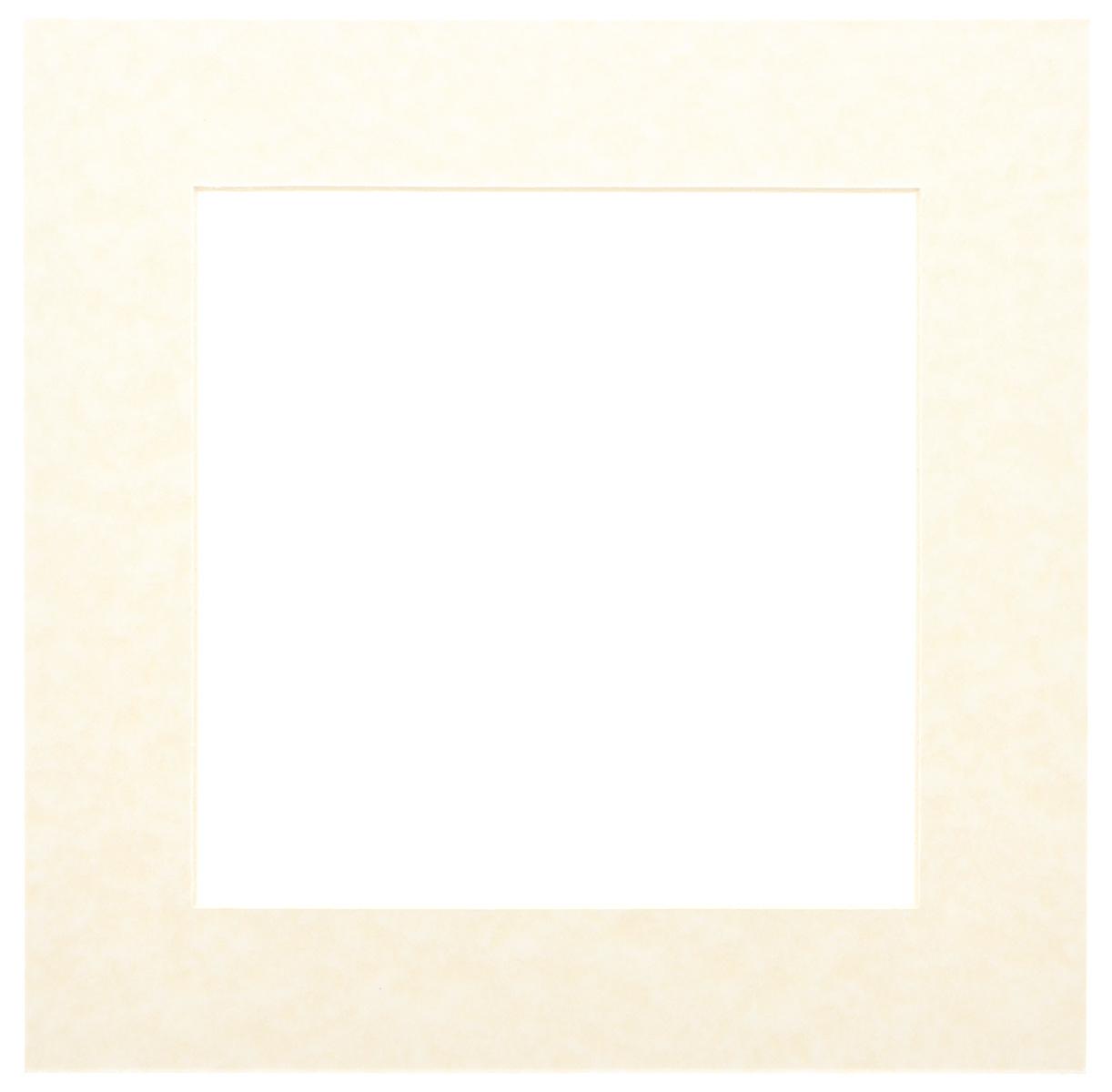 Паспарту Василиса, цвет: молочный, 17 х 17 см580667Паспарту Василиса, изготовленное из плотного картона, предназначено для оформления художественных работ и фотографий. Оно располагается между багетной рамой и изображением, делая акцент на фотографии, усиливая ее визуальное восприятие. Кроме того, на паспарту часто располагают поясняющие подписи, автограф изображенного. Внешний размер: 25 см х 25 см. Внутренний размер: 17 см х 17 см.