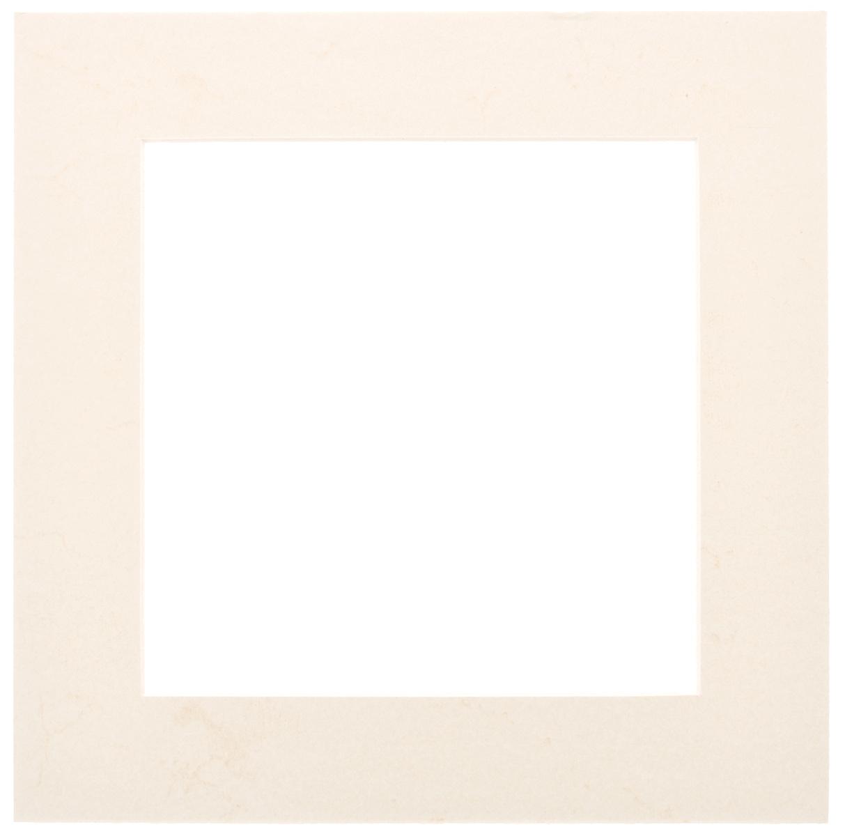Паспарту Василиса, цвет: светло-бежевый, 17 х 17 см580647Паспарту Василиса, изготовленное из плотного картона, предназначено для оформления художественных работ и фотографий. Оно располагается между багетной рамой и изображением, делая акцент на фотографии, усиливая ее визуальное восприятие. Кроме того, на паспарту часто располагают поясняющие подписи, автограф изображенного. Внешний размер: 25 см х 25 см. Внутренний размер: 17 см х 17 см.