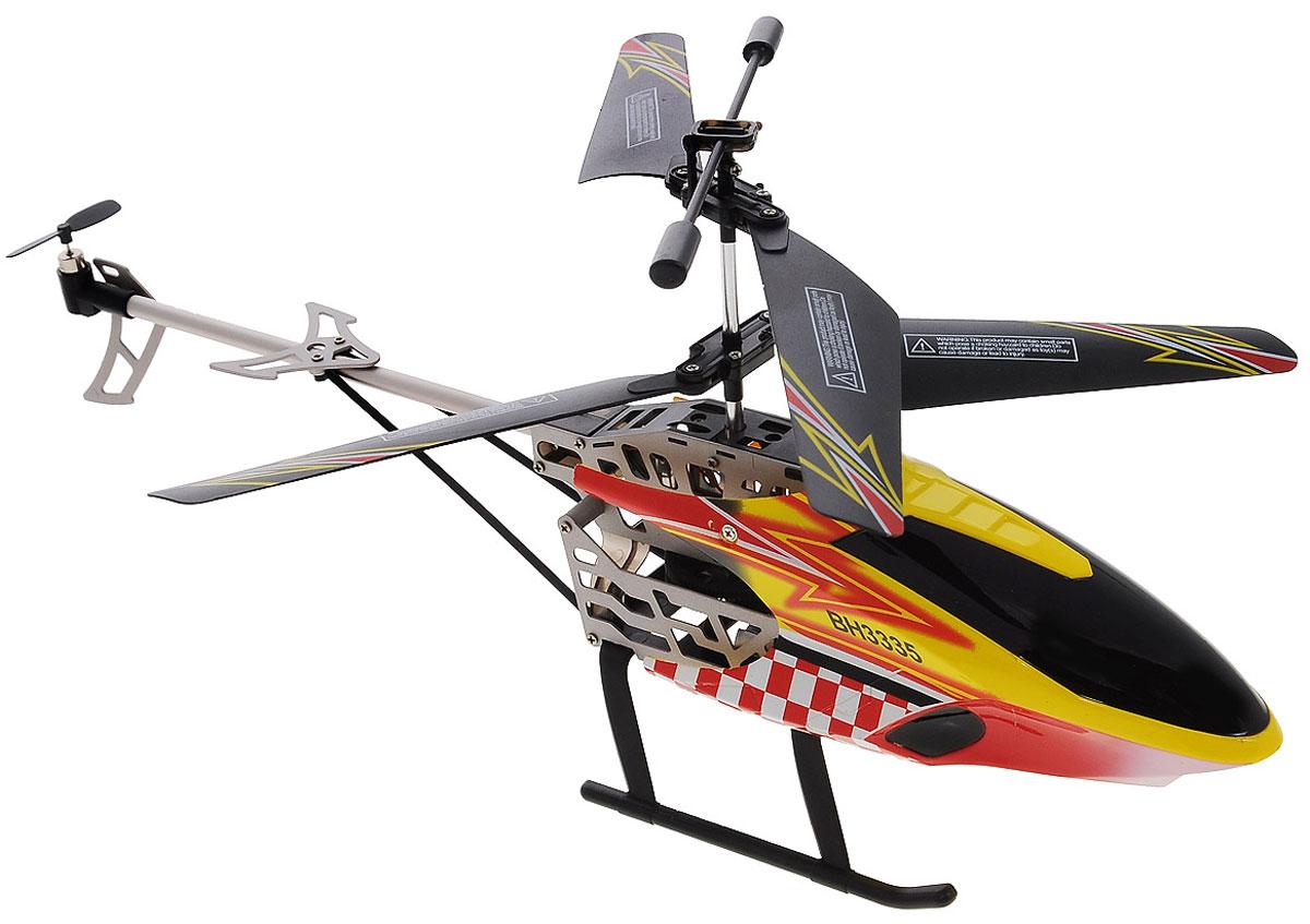 Властелин небес Вертолет на радиоуправлении АэроТаксиBH 3335Вертолет на радиоуправлении Властелин небес АэроТакси - это 3-х канальный вертолет для игры в закрытом помещении на инфракрасном управлении. Игрушка имеет встроенный гироскоп для стабилизации полета. Доступны следующие функции полета: вверх, вниз, вперед, назад, повороты, вращение, зависание. Корпус выполнен из высокопрочного пластика с элементами из металла. Яркие полетные огни смогут помочь весело провести время в вечернее время. Дистанция передачи сигнала составляет около 10 метров. Пульт управления работает от 6 батарей напряжением 1,5V типа АА (не входят в комплект), вертолет работает от аккумулятора LiPol 3,7V, зарядка которого производится от пульта управления или порта USB.