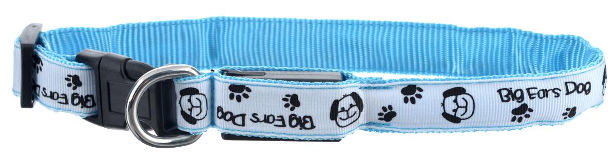 Ошейник для собак V.I.Pet Собачки и лапки, светящийся, цвет: белый, голубой, 18-28 см14-3400US_белый, голубойСветящийся ошейник V.I.Pet Собачки и лапки - это современный аксессуар, предназначенный для собак. Он выполнен из прочного нейлона и прошит светоотражающей нейлоновой нитью. Такой ошейник видно на расстоянии более 300 метров, кроме того, питомец будет заметен водителям транспорта, что обеспечит безопасность прогулки. Особенности ошейника: - работает в 3 режимах: постоянный свет, быстрое мигание, мигание; - в темное время суток виден на расстоянии до 300 метров; - заряжается через USB-кабель (входит в комплект); - прошит с обеих сторон светоотражающей нитью; Размер ошейника: 18-28 см. Ширина: 2 см.