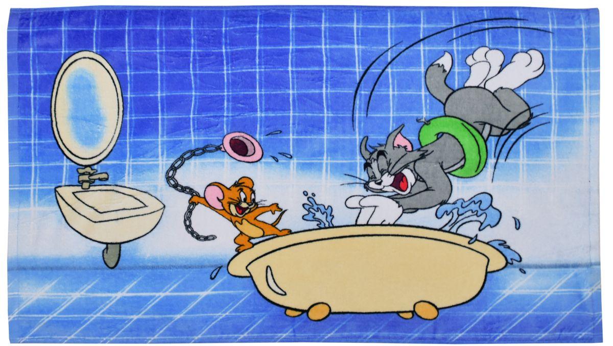 Полотенце 50*90 см, махровое, Том и Джерри в ванной01300115879Красочные полотенца 2 в 1: одна сторона развлекает, другая — вытирает. Разнообразие расцветок полотенец поможет окунуться в мир волшебных сказок и мультипликационных героев.