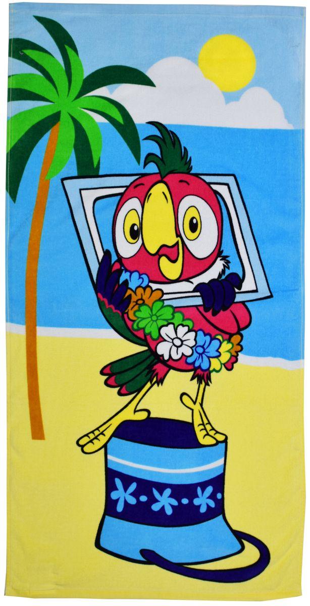 Полотенце 60*120 см, махровое, Возвращение блудного попугая01300115883Красочные полотенца 2 в 1: одна сторона развлекает, другая — вытирает. Разнообразие расцветок полотенец поможет окунуться в мир волшебных сказок и мультипликационных героев.
