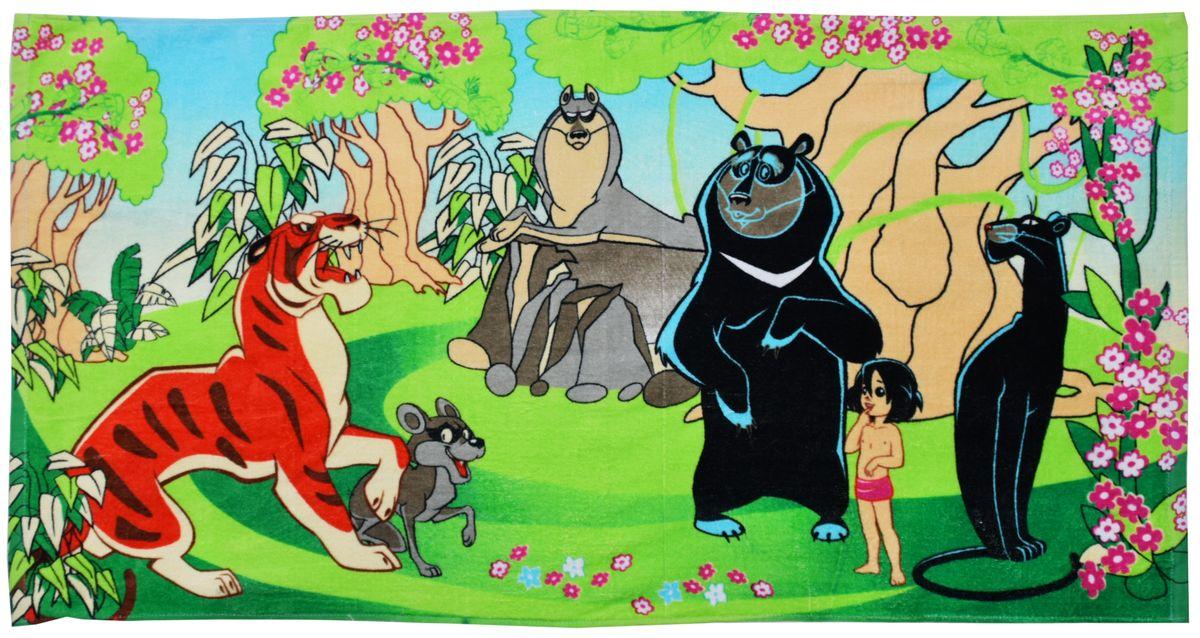 Полотенце 60*120 см, махровое, Маугли01300115886Красочные полотенца 2 в 1: одна сторона развлекает, другая — вытирает. Разнообразие расцветок полотенец поможет окунуться в мир волшебных сказок и мультипликационных героев. Внимание, уважаемые покупатели! Возможны изменения в дизайне товара.