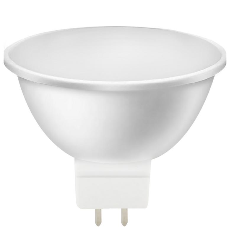 Лампа светодиодная Smartbuy, MR16, холодный свет, цоколь Gu5,3, 7 ВтSBL-GU5_3-07-40K-NСветодиодная лампа Smartbuy Gu5.3 - энергосберегающая лампа направленного света, которая широко используется в помещениях - в различных точечных потолочных светильниках, для украшения витрин, в рекламных конструкциях и вывесках и многом другом. Светодиодные лампы повторяют форму и размеры стандартных галогенных ламп MR16 и PAR16 и идеально подходят к любому светильнику, в котором используются данные типы ламп. Такие лампы-рефлекторы особенно популярны в подвесных потолках. В светодиодных лампах серий Gu5.3 применяются высокоэффективные светодиоды, что обеспечивает высокую надежность и эффективность источников света до 80 лм/Вт. При этом коэффициент цветопередачи обеспечивается на уровне Ra>80. Особенности: - Хорошая цветопередача. - Угол освещения: 40-60°. - Отсутствие мерцания обеспечивает меньшую утомляемость глаз. - Высокоэффективный драйвер обеспечивает стабильную работу. - Устойчивость к механическому воздействию. -...