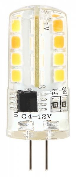 Лампа светодиодная Smartbuy, теплый свет, цоколь G4, 3 ВтSBL-G4 03-30KСветодиодная лампа Smartbuy G4 - энергосберегающая лампа общего и декоративного освещения. Колба лампы выполнена в форме капсулы. Лампа G4 повторяет форму и размеры стандартных галогенных капсульных ламп и идеально подходит к любому светильнику, в котором используются данные типы ламп. Сочетает в себе компактный размер и особую яркость. В светодиодных лампах серий G4 применяются высокоэффективные светодиоды, что обеспечивает высокую надежность и эффективность источников света до 80 лм/Вт. При этом коэффициент цветопередачи обеспечивается на уровне Ra>80. Индекс цветопередачи: RA>80. Частота: 50 Гц. Напряжение: 12 В. Коэффициент мощности: 0,06.