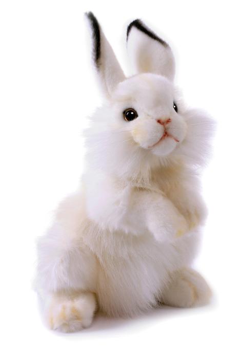 HANSA Мягкая игрушка Заяц Кролик белый 32 см3313