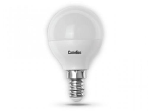 Лампа светодиодная Camelion, теплый свет, цоколь E14, 5W5-G45/830/E14Энергосберегающая лампа Camelion - это инновационное решение, разработанное на основе новейших светодиодных технологий (LED), для эффективной замены любых видов галогенных или обыкновенных ламп накаливания во всех типах осветительных приборов. Служит в 30 раз дольше обычных ламп, экономит 1200 кВт/ч. Она хорошо подойдет для создания рабочей атмосферы в производственных и общественных зданиях, спортивных и торговых залах, в офисах и учреждениях. Лампа не содержит ртути и других вредных веществ, экологически безопасна и не требует утилизации, не выделяет при работе ультрафиолетовое и инфракрасное излучение. Обладает высокой вибро- и ударопрочностью в связи с отсутствием нити накаливания и стеклянных трубок. Обеспечивает мгновенное включение без мерцания. Тип колбы: G45. Напряжение: 220-240В / 50 Гц. Индекс цветопередачи (Ra): 77+. Угол светового пучка: 220°. Использовать при температуре: от -30° до +40°.