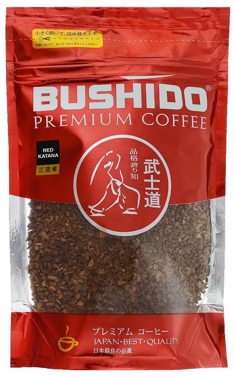 Bushido Red Katana кофе растворимый, 85 г7610121710387Bushido Red Katana - швейцарский кофе премиум класса, изготовлен из Арабики, собранной на высокогорных плантациях Восточной Африки. Обладает мягким вкусом, терпким винным ароматом и долгим послевкусием.