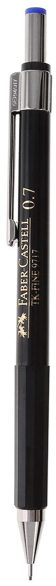 Faber-Castell Механический карандаш TK-FINE цвет кнопки синий263250Механический карандаш Faber-Castell - незаменимый атрибут современного делового человека дома и в офисе. Корпус карандаша круглой формы с металлическим клипом и наконечником выполнен из высококачественного пластика. Корпус дополнен надписями золотого цвета. Убирающийся внутрь кончик обеспечивает безопасное ношение карандаша в кармане. Толщина линии: 0,7 мм. Мягкое комфортное письмо и тонкие линии при написании принесут вам максимум удовольствия. Порадуйте друзей и знакомых, оказав им столь стильный знак внимания.