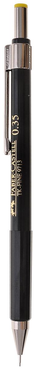 Faber-Castell Механический карандаш TK-FINE цвет кнопки желтый263249Механический карандаш Faber-Castell - незаменимый атрибут современного делового человека дома и в офисе. Корпус карандаша круглой формы с металлическим клипом и наконечником выполнен из высококачественного пластика. Корпус дополнен надписями золотого цвета. Убирающийся внутрь кончик обеспечивает безопасное ношение карандаша в кармане. Толщина линии: 0,35 мм. Мягкое комфортное письмо и тонкие линии при написании принесут вам максимум удовольствия. Порадуйте друзей и знакомых, оказав им столь стильный знак внимания.