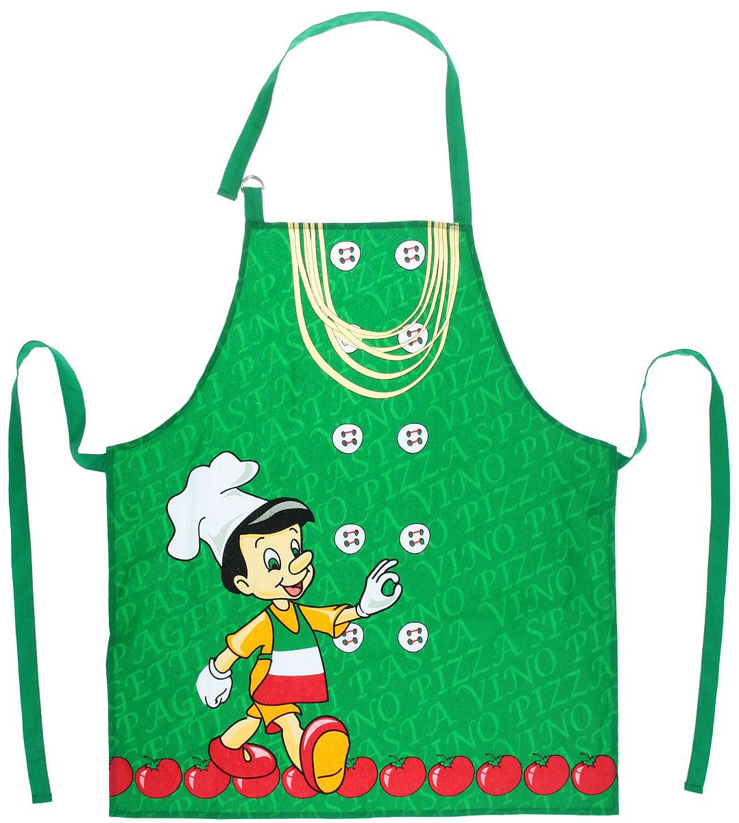 Фартук Bon Appetit Италия, 68 х 75 см57892Фартук Bon Appetit Италия, изготовленный из натурального 100% хлопка, оснащен карманом и регулируемым шейным ремешком, который поможет подогнать фартук по вашему росту. Удлиненный пояс можно завязать сзади или обернуть вокруг талии, благодаря чему фартук подойдет на фигуру S-XXL. Такой фартук поднимет настроение, позволит почувствовать себя нарядной и женственной при выполнении домашних дел.