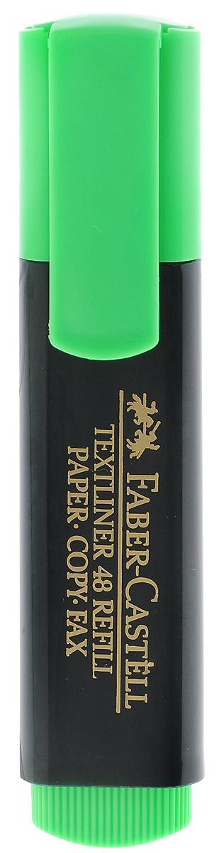 Faber-Castell Текстовыделитель цвет зеленый263296Текстовыделитель Faber-Castell зеленого цвета станет незаменимым предметом как на столе школьника, так и студента. Маркер с универсальными чернилами на водной основе идеален для всех видов бумаги. Имеется возможность повторного наполнения чернилами. Линия маркировки шириной 5, 2 или 1 мм.
