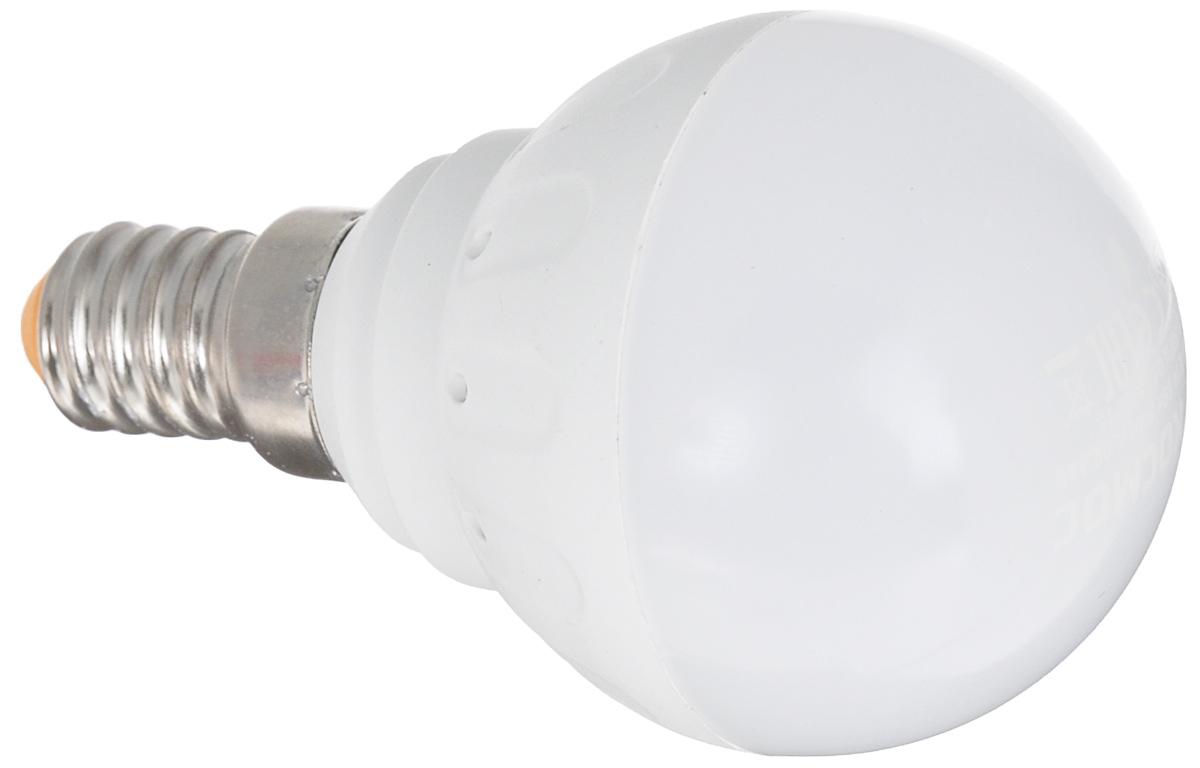 Светодиодная лампа Kosmos, теплый свет, цоколь E14, 5W, 220V. Lksm_LED5wGL45E1430Lksm_LED5wGL45E1430Светодиодная лампа со сниженной теплопроизводительностью КОСМОС LED GL45 5Вт 220В E14 3000K (Lksm LED5wGL45E1430) разработана в соответствии с европейскими и российскими стандартами. Применима ко всем осветительным устройствам с цоколем Е14. Является аналогом 60-Ваттной обычной лампы. Угол рассеивания составляет 270 градусов. Уважаемые клиенты! Обращаем ваше внимание на возможные изменения в дизайне упаковки. Качественные характеристики товара остаются неизменными. Поставка осуществляется в зависимости от наличия на складе.
