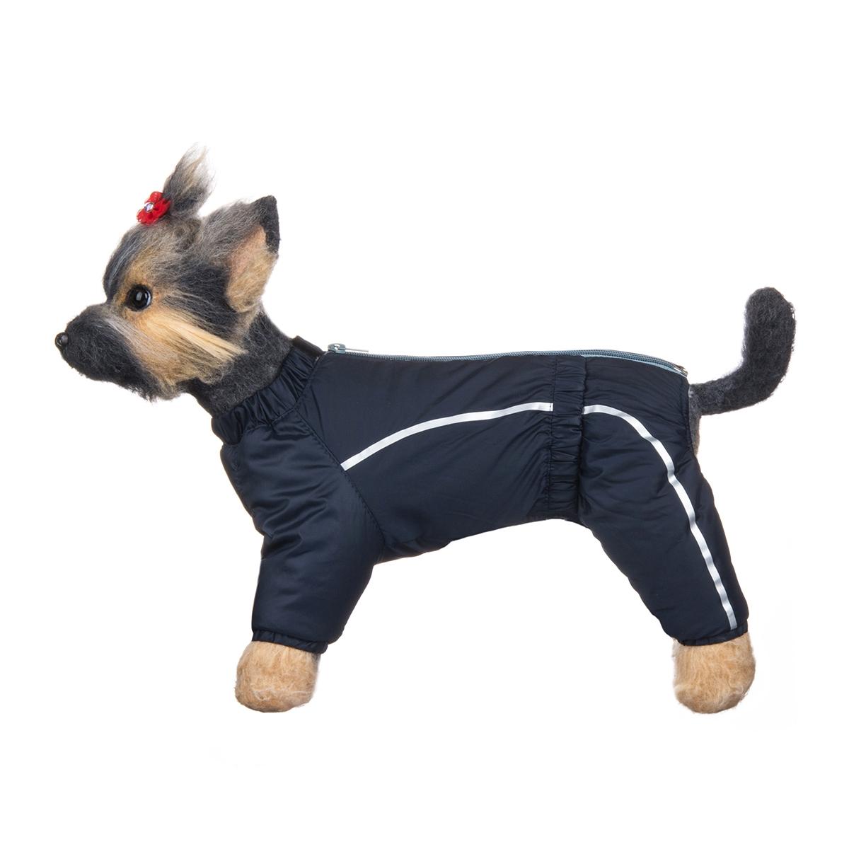 Комбинезон для собак Dogmoda Альпы, зимний, для мальчика, цвет: синий, светло-серый. Размер 4 (XL)DM-150351-4Зимний комбинезон для собак Dogmoda Альпы отлично подойдет для прогулок в зимнее время года. Комбинезон изготовлен из полиэстера, защищающего от ветра и снега, с утеплителем из синтепона, который сохранит тепло даже в сильные морозы, а на подкладке используется искусственный мех, который обеспечивает отличный воздухообмен. Комбинезон застегивается на молнию и липучку, благодаря чему его легко надевать и снимать. Ворот, низ рукавов и брючин оснащены внутренними резинками, которые мягко обхватывают шею и лапки, не позволяя просачиваться холодному воздуху. На пояснице имеется внутренняя резинка. Изделие декорировано серебристыми полосками и надписью DM. Благодаря такому комбинезону простуда не грозит вашему питомцу и он сможет испытать не сравнимое удовольствие от снежных игр и забав.