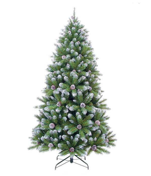 Ель Триумф Императрица с Шишками, заснеженная, цвет: зеленый, белый, высота 120 см73977 (088023)Искусственная ель Триумф Императрица с Шишками, выполненная из мягкого ПВХ, прекрасный вариант для оформления интерьера к Новому году. Глядя на ель, невольно вспоминается детство, Новый Год, самая красивая и большая праздничная елка. Так и было задумано производителем. Особенности елок Triumph Tree: - высокое качество; - соответствуют стандартам безопасности стран Европы; - ветки полностью безопасны для рук - нет острых режущих концов проволоки; - особо рекомендованы для детей по условиям безопасности; - хвоя из экологически чистого синтетического материала; - не воспламеняются; - гипоаллергенны; - иголки не осыпаются, не мнутся, со временем не выцветают; - простая и быстрая сборка (разборка) благодаря цветной маркировке веток и креплений; - ветки достаточно толстые, что позволяет им не гнуться и не прогибаться под тяжестью игрушек; - ветки достаточно жесткие, легко и быстро распушаются - каждая по...