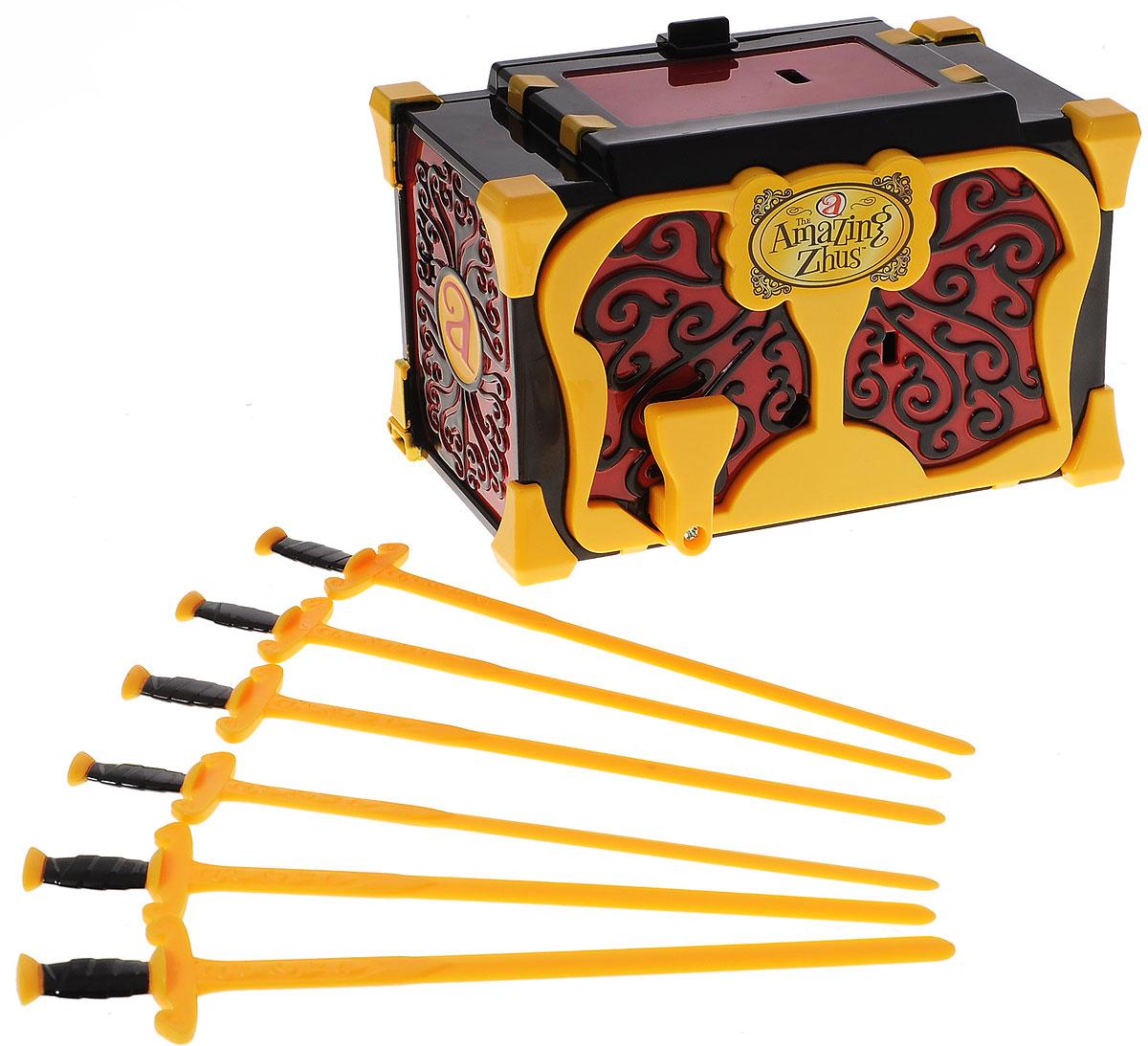Amazing Zhus Игровой набор Ящик для фокуса с мечами26050Игровой набор Amazing Zhus Ящик для фокуса с мечами предназначен для демонстрации фокусов с мышками Amazing Zhus (продаются отдельно). Просто посадите мышку в ящик, закройте, и она исчезнет. Вставьте в ящик шпаги, чтобы все убедились, что там никого нет! Удивленные лица зрителей гарантированы!