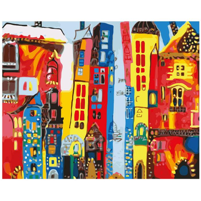 Набор для росписи холста по номерам Креатто Город Арт, 40 см х 50 см28254С набором для росписи холста по номерам Креатто Город Арт каждый сможет стать начинающим художником и создать свой шедевр. Надо только аккуратно, шаг за шагом, нанести необходимую краску на отмеченный для нее участок на основе, и у вас получится великолепная картина с изображением города. Процесс рисования превращается в удовольствие - не нужно думать над композицией, лист уже расчерчен на зоны, и все, что нужно сделать, - взять кисточку и начать раскрашивать. Для получения прозрачности краски можно разбавить водой, а для создания специальных эффектов рисунок нужно раскрашивать в несколько слоев. В комплект входят холст с контуром картины, закрепленный на деревянной рамке, 24 маленькие баночки с акриловой краской разных цветов, 3 кисти, схема рисунка, крепежные петли для подвешивания картины. Такая картина станет превосходным украшением интерьера детской комнаты и оригинальным подарком близким и друзьям. Если ваши дети любят рисовать и заниматься...