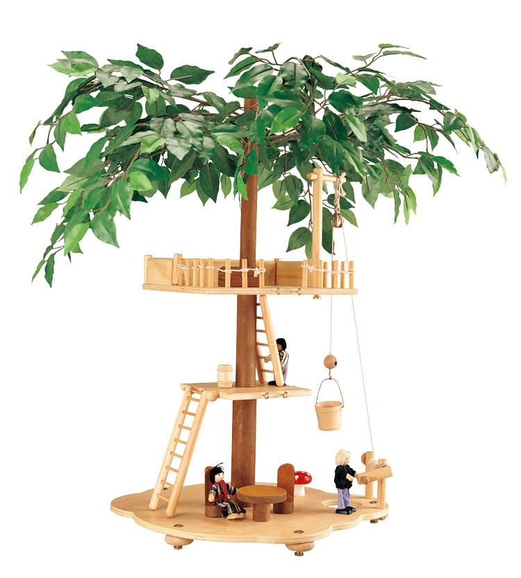 Balbi Дом для кукол Домик на деревеTT-010Игровой набор Balbi Домик на дереве изготовлен из дерева твердых пород, без химической обработки. Качественная обработка всех деталей набора и окраска натуральными красками обеспечивает безопасность для детей. Домик на дереве оборудован подъемником, качелями, лестницами, необходимой мебелью. В комплекте, помимо домика, есть 3 фигурки его обитателей. Игровой набор Balbi Домик на дереве - это отличный подарок для ребенка!