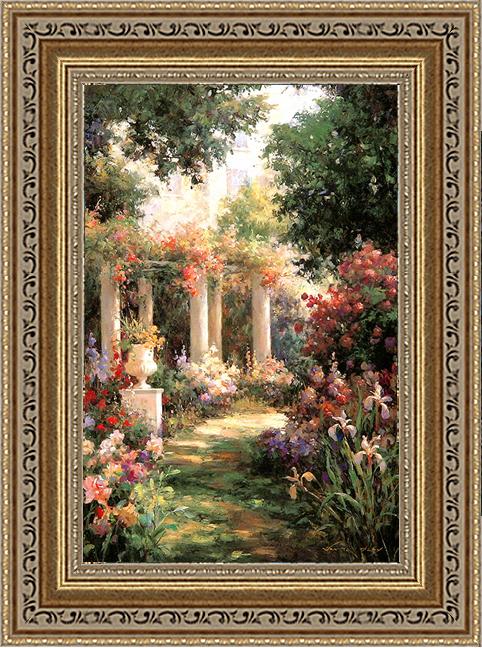 Садовые колонны (Oxley Vail), 17 x 22 см17x22 D1040-41709Художественная репродукция картины Oxley Vail Ancient Garden Columns. Размер постера: 17 см x 22 см Артикул: 17x22 D1040-41709.