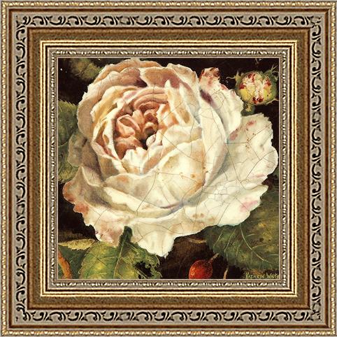Белая роза (Kathryn White), 18 х 18 см18x18 D1647-41709Художественная репродукция картины Kathryn White Rose Blanche Detail. Размер постера (без багета): 18 см х 18 см. Артикул: 18x18 D1647-41709.