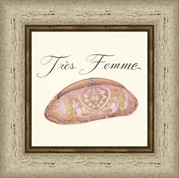 Дамская сумочка (Emily Adams), 18 x 18 см18x18 D2770-5380115Художественная репродукция картины Emily Adams Tres Femme. Размер постера: 18 см x 18 см. Артикул: 18x18 D2770-5380115.