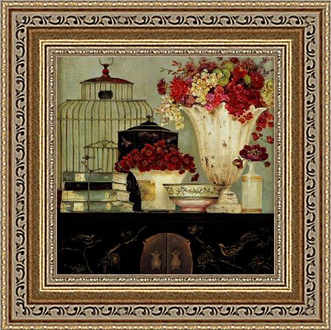 Голос цветочной птицы (Kathryn White)18x18 D3115-41709Художественная репродукция картины Kathryn White Butterfly Blossoms. Размер постера: 18 см х 18 см.
