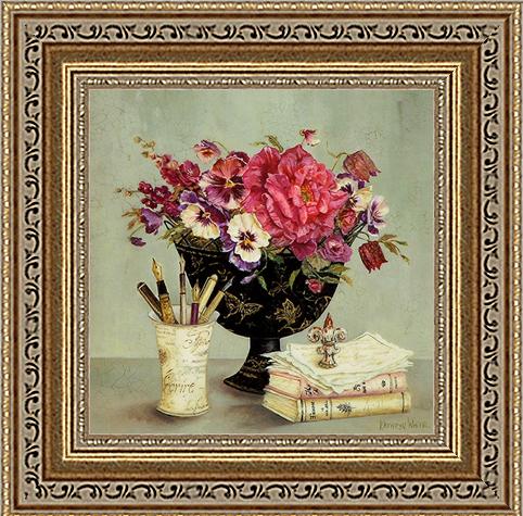 Натюрморт с цветами и книгами (Kathryn White)18x18 D3151-41709Художественная репродукция картины Kathryn White Butterfly Journals. Размер постера: 18 см х 18 см.
