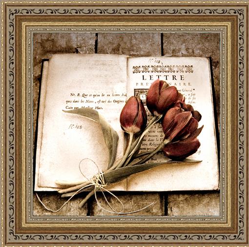 Застывшие тюльпаны (Cristin Atria), 30 x 30 см30x30 A3587-41709Художественная репродукция картины Cristin Atria Estate Tulips. Размер постера: 30 см x 30 см. Артикул: 30x30 A3587-41709.