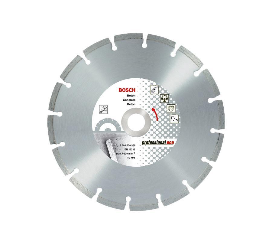 Bosch Алмазный по бетону2608602197Особенности BOSCH 125х22.23х1.6 по бетону сегментный: - серия Professional - по бетону и камню