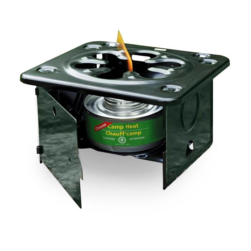 Плита складная Coghlans, цвет: черный9957Очень удобная походная плита для быстрого приготовления пищи или горячего чая в туристическом лагере. В ней, для разведения огня, можно использовать контейнеры с жидким топливом Coghlans или брикеты сухого спирта. Стальная конструкция с защитным покрытием достаточно прочная, чтобы удержать даже тяжелую кастрюлю. Дверца плиты и боковые стенки надежно защищают пламя от ветра. Плита компактно складывается для удобной переноски и практически не занимает места в дорожной клади. УВАЖАЕМЫЕ КЛИЕНТЫ! Просим обратить ваше внимание на тот факт, что плитка поставляется без газовой горелки.