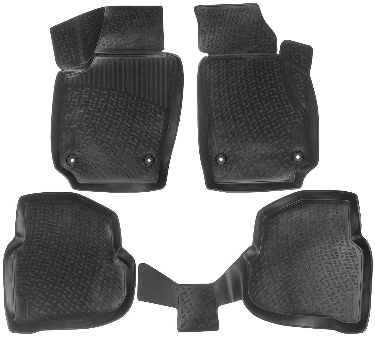 Набор автомобильных ковриков L.Locker Volkswagen Polo V Sedan 2010, в салон, 4 шт0201090201Набор L.Locker Volkswagen Polo V Sedan 2010, изготовленный из полиуретана, состоит из 4 антискользящих 3D ковриков, которые производятся индивидуально для каждой модели автомобиля. Изделие точно повторяет геометрию пола автомобиля, имеет высокий борт, обладает повышенной износоустойчивостью, лишено резкого запаха и сохраняет свои потребительские свойства в широком диапазоне температур от -50°С до +50°С. Комплектация: 4 шт. Размер ковриков: 78 см х 49 см; 57 см х 54,5 см; 98 см х 57 см; 53 см х 77 см.