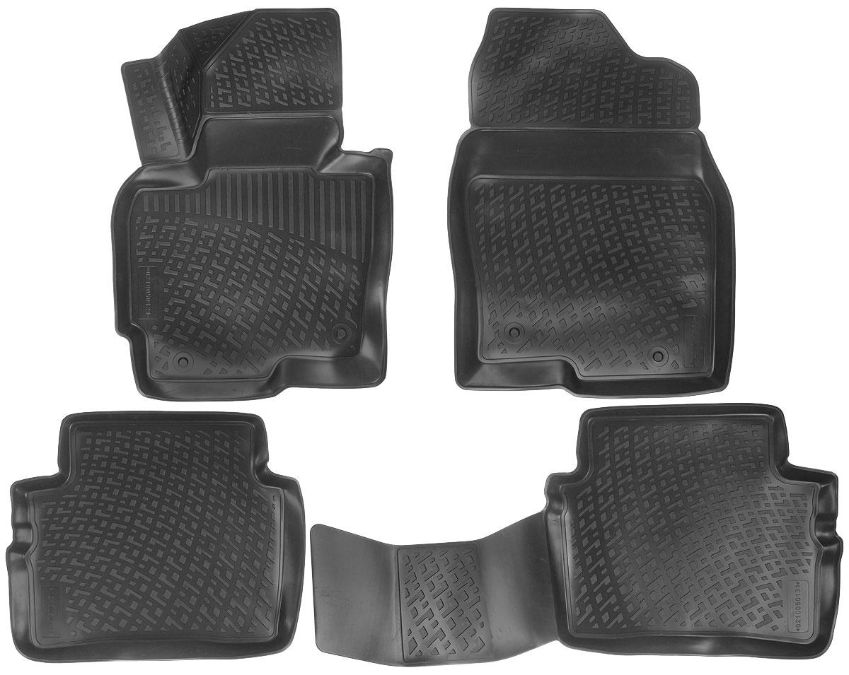 Набор автомобильных ковриков L.Locker Mazda CX-5 2012, в салон, 4 шт0210050101Набор L.Locker Mazda CX-5 2012, изготовленный из полиуретана, состоит из 4 антискользящих 3D ковриков, которые производятся индивидуально для каждой модели автомобиля. Изделие точно повторяет геометрию пола автомобиля, имеет высокий борт, обладает повышенной износоустойчивостью, лишено резкого запаха и сохраняет свои потребительские свойства в широком диапазоне температур от -50°С до +50°С. Комплектация: 4 шт. Размер ковриков: 73 см х 54,5 см; 96 см х 47 см; 57,5 см х 47 см; 53 см х 74 см.