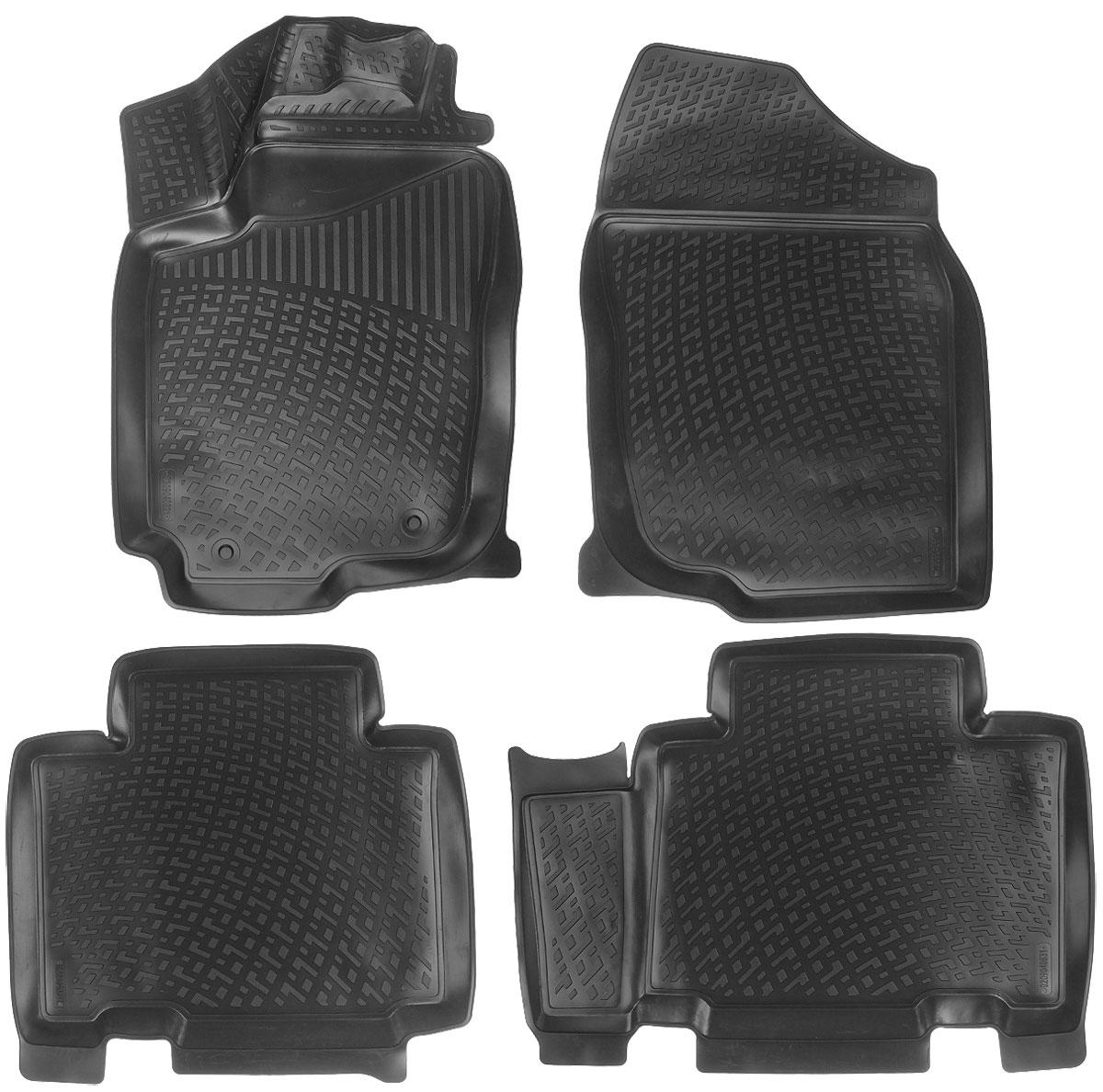 Набор автомобильных ковриков L.Locker Toyota RAV4 IV 2012, в салон, 4 шт0209040601Набор L.Locker Toyota RAV4 IV 2012, изготовленный из полиуретана, состоит из 4 антискользящих 3D ковриков, которые производятся индивидуально для каждой модели автомобиля. Изделие точно повторяет геометрию пола автомобиля, имеет высокий борт, обладает повышенной износоустойчивостью, лишено резкого запаха и сохраняет свои потребительские свойства в широком диапазоне температур от -50°С до +50°С. Набор подходит для автомобилей с 2012 года выпуска. Комплектация: 4 шт. Размер ковриков: 81 см х 55 см; 80 см х 60 см; 62 см х 59 см; 78 см х 55 см.