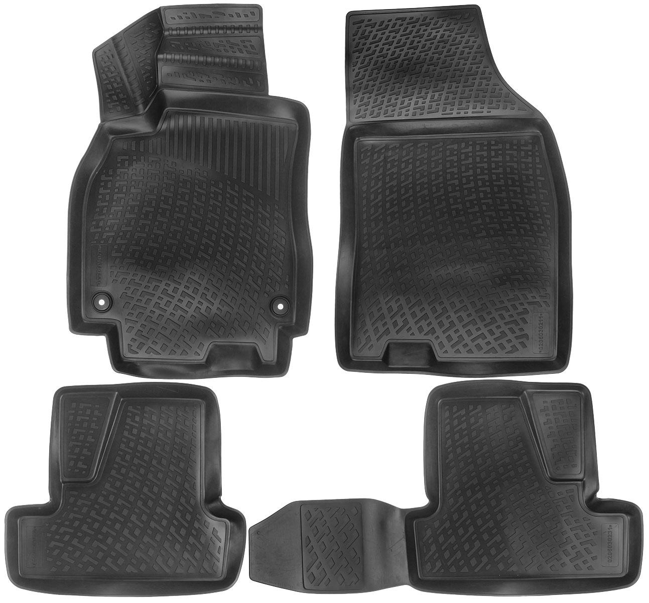 Набор автомобильных ковриков L.Locker Renault Megane III hb 2008, в салон, 4 шт0206030201Набор L.Locker Renault Megane III hb 2008, изготовленный из полиуретана, состоит из 4 антискользящих 3D ковриков, которые производятся индивидуально для каждой модели автомобиля. Изделие точно повторяет геометрию пола автомобиля, имеет высокий борт, обладает повышенной износоустойчивостью, лишено резкого запаха и сохраняет свои потребительские свойства в широком диапазоне температур от -50°С до +50°С. Набор подходит для автомобилей с 2008 года выпуска. Комплектация: 4 шт. Размер ковриков: 87 см х 57 см; 55 см х 50 см; 92 см х 50 см; 91 см х 57 см.