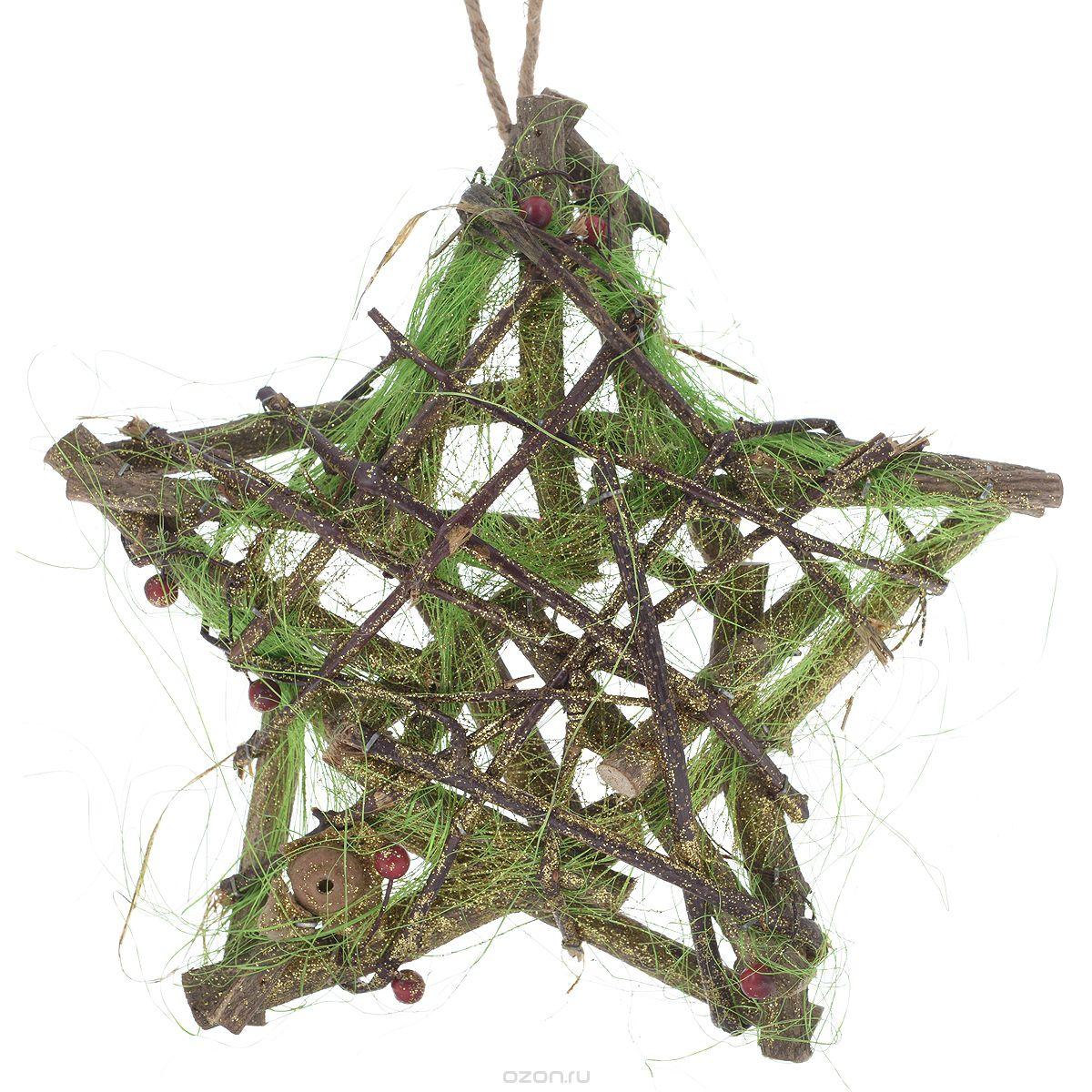 Декоративный элемент Dongjiang Art, 33 см х 33 см7709039Декоративный элемент Dongjiang Art, изготовленный из натурального дерева, представляет собой звезду, оформленную цветными нитями и блестками. Такая звезда дополнит интерьер любого помещения, а также сможет стать оригинальным подарком для ваших друзей и близких. Дополнительно вы можете украсить звезду лентами, фигурками, красивыми бусинами, цветной бумагой и другим материалом. Оформление помещения декоративными элементами создаст праздничную, по-настоящему радостную и теплую атмосферу.