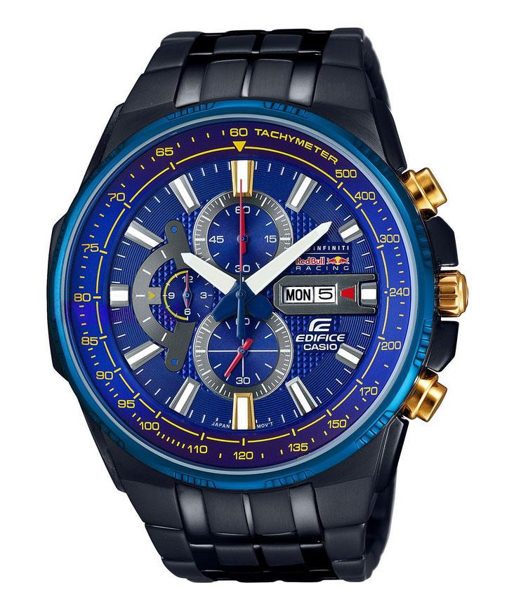 Часы мужские наручные Casio Edifice, цвет: черный, синий. EFR-549RBB-2AEREFR-549RBB-2AERМногофункциональные часы Casio Edifice выполнены из нержавеющей стали, полимерного материала и минерального стекла. Корпус часов оформлен символикой бренда. Корпус изделия изготовлен из нержавеющей стали и имеет степень влагозащиты равную 10 atm. Часы оснащены долговечным механизмом. Дополнительные функции часов: - Неоновый дисплей: светящееся покрытие обеспечивает длительную подсветку в темное время суток после короткого воздействия света. -Индикатор даты: на дисплее отображается текущая дата и день недели. -Секундомер - 12 часов: измерение с точностью до секунды прошедшего времени и времени окончания. Сигналы подтверждают о выборе запуска/остановки. Пределы измерения достигают до 12 часов. -Водонепроницаемость (10 Бар): идеально подходит для плавания с маской и трубкой, часы являются водонепроницаемыми до 10 Бар/на глубине до 100 метров. Значение метров не относится к глубине погружения, но относится к атмосферному давлению,...