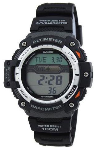 Часы наручные Casio, цвет: черный. SGW-1000-1ASGW-1000-1AНаручные часы Casio произведены опытными специалистами из материалов самого высокого качества на базе новейших технологий. Часы прошли тщательную проверку и контроль качества. Часы оснащены кварцевым механизмом. Корпус выполнен из высококачественной нержавеющей стали с пластиковыми вставками. Дисплей часов защищен минеральным стеклом, устойчивым к появлению царапин и подсвечивается светодиодом, функция автоподсветки освещает циферблат при повороте часов к лицу. Ремешок часов выполнен из полимерного материала и оснащен застежкой-пряжкой. Часы имеют дополнительные функции: мировое время, индикатор даты, цифровой компас, барометр, термометр, альтиметр, секундомер, таймер, будильник. Модуль часов рассчитан на работу при низких температурах. Часы укомплектованы паспортом с подробной инструкцией и упакованы в оригинальную фирменную коробку. Характеристики: Длина ремешка (с учетом корпуса): 25 см. Ширина ремешка: 2 см. Диаметр...