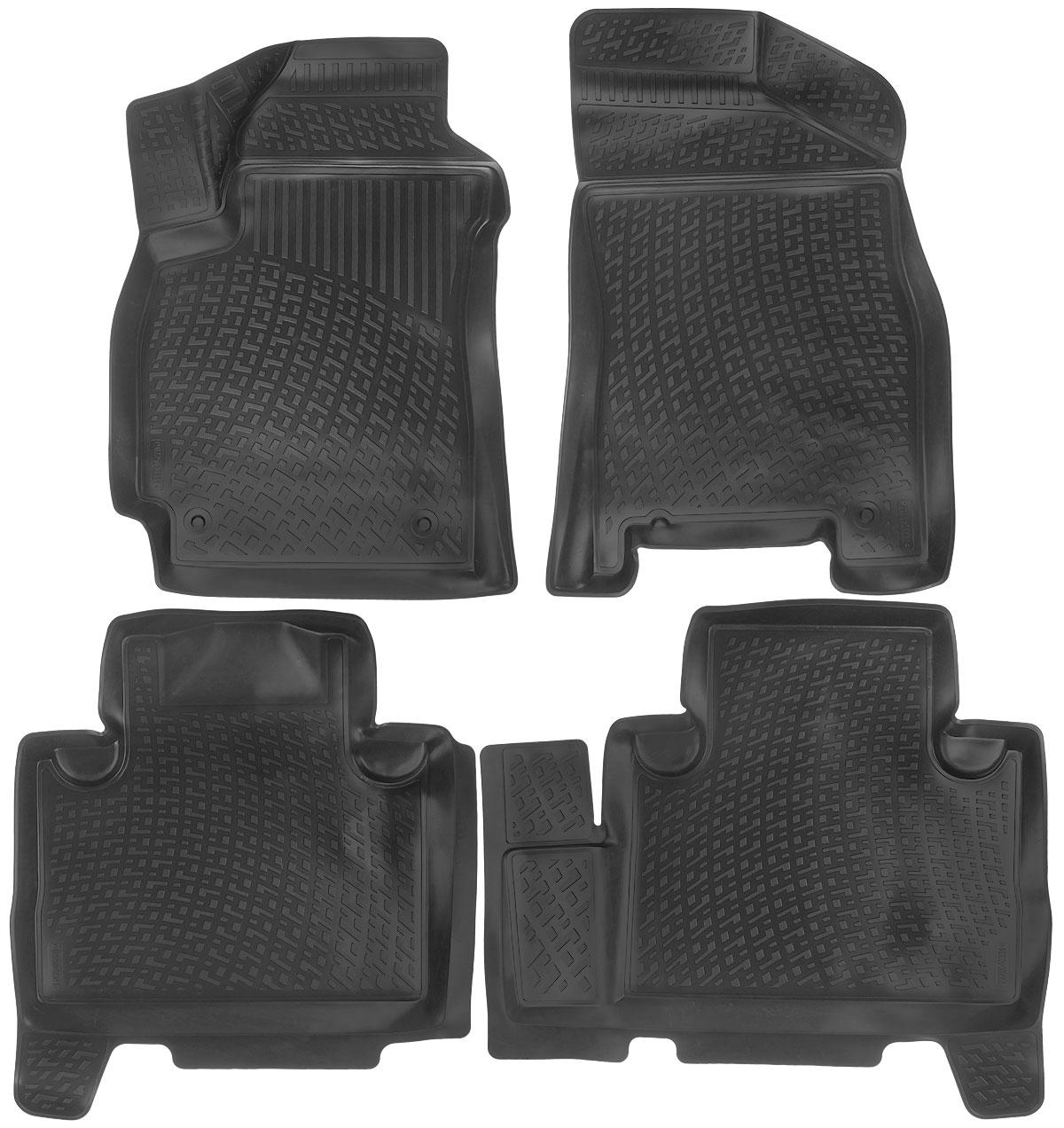 Набор автомобильных ковриков L.Locker Geely Emgrand X7 2011, в салон, 4 шт0225040301Набор L.Locker Geely Emgrand X7 2011, изготовленный из полиуретана, состоит из 4 антискользящих 3D ковриков, которые производятся индивидуально для каждой модели автомобиля. Изделие точно повторяет геометрию пола автомобиля, имеет высокий борт, обладает повышенной износоустойчивостью, лишено резкого запаха и сохраняет свои потребительские свойства в широком диапазоне температур от -50°С до +50°С. Комплектация: 4 шт. Размер ковриков: 78 см х 54 см; 70 см х 64 см; 80 см х 70 см; 82 см х 54 см.