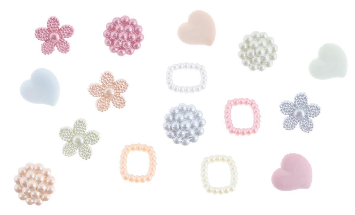 Набор пуговиц и фигурок Buttons Galore & More Heirloom Keepsakes, 16 шт7708817_4404Набор Buttons Galore & More Heirloom Keepsakes состоит из 12 декоративных пуговиц на ножке и 4 декоративных элементов, которые можно приклеить. Все элементы выполнены из пластика в виде сердец и цветов. Такой набор подходит для любых видов творчества: скрапбукинга, декорирования, шитья, изготовления кукол, а также для оформления одежды. С их помощью вы сможете украсить открытку, фотографию, альбом, подарок и другие предметы ручной работы. Все элементы выполнены в разных цветах и формах, имеют оригинальный и яркий дизайн. Средний размер элементов: 1,2 см х 1,3 см х 0,4 см.