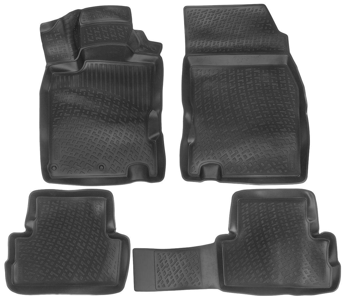Набор автомобильных ковриков L.Locker Nissan Qashqai II 2014, в салон, 4 шт0205050301Набор L.Locker Nissan Qashqai II 2014, изготовленный из полиуретана, состоит из 4 антискользящих 3D ковриков, которые производятся индивидуально для каждой модели автомобиля. Изделие точно повторяет геометрию пола автомобиля, имеет высокий борт, обладает повышенной износоустойчивостью, лишено резкого запаха и сохраняет свои потребительские свойства в широком диапазоне температур от -50°С до +50°С. Комплектация: 4 шт. Размер ковриков: 87 см х 53 см; 53 см х 46 см; 92 см х 46 см; 54 см х 77 см.
