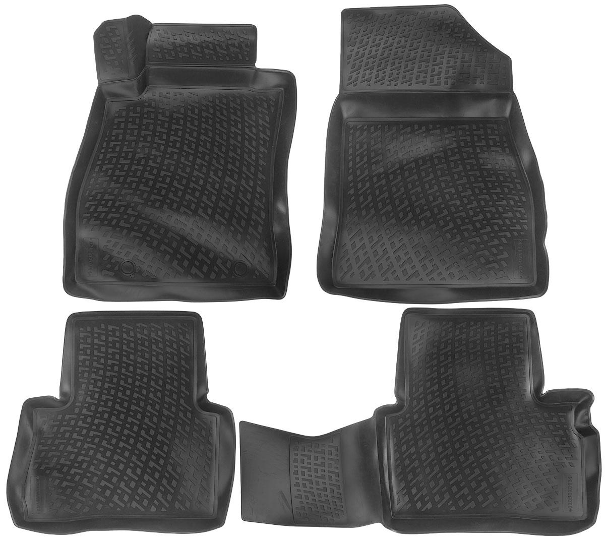 Набор автомобильных ковриков L.Locker Nissan Juke 2010, в салон, 4 шт0205020101Набор L.Locker Nissan Juke 2010, изготовленный из полиуретана, состоит из 4 антискользящих 3D ковриков, которые производятся индивидуально для каждой модели автомобиля. Изделие точно повторяет геометрию пола автомобиля, имеет высокий борт, обладает повышенной износоустойчивостью, лишено резкого запаха и сохраняет свои потребительские свойства в широком диапазоне температур от -50°С до +50°С. Комплектация: 4 шт. Размер ковриков: 92 см х 57 см; 57 см х 56 см; 72 см х 58 см; 77 см х 58 см.