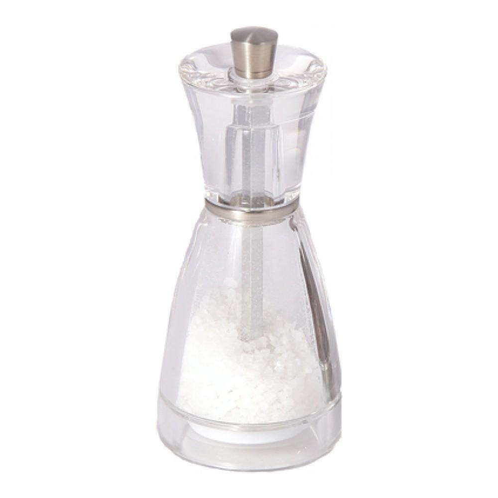 Мельница для соли Cole & Mason PinaH357020Мельница для соли Cole & Mason Pina изготовлена из прозрачного пищевого пластика, что позволяет видеть количество содержимого в емкости. Механизм помола выполнен из керамики. Оригинальная мельница модного дизайна будет отлично смотреться на вашей кухне. Мельница уже содержит соль. Размер мельницы: 5,5 см х 5,5 см х 12,5 см.
