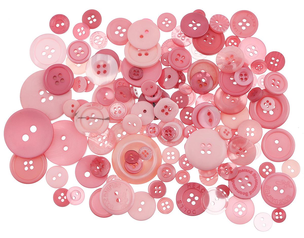 Пуговицы декоративные Buttons Galore & More Color Blends, цвет: ягодный, 85 г. 77088797708879_ЯгодныйНабор пуговиц для творчества и декорирования одежды Buttons Galore & More Color Blends изготовлен из высококачественного пластика. В набор входят пуговицы различных размеров и с разным количеством отверстий. Такие пуговицы подходят для любых видов творчества: скрапбукинга, декорирования, шитья, изготовления кукол, а также для оформления одежды. С их помощью вы сможете украсить открытку, фотографию, альбом, подарок и другие предметы ручной работы. Пуговицы имеют оригинальный и яркий дизайн. Средний диаметр пуговиц: 2 см.