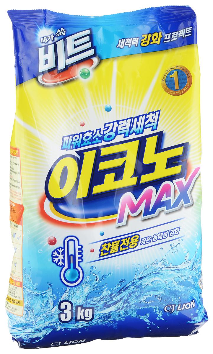 Стиральный порошок Cj Lion Beat Econo Max, 3 кг114002Стиральный порошок Cj Lion Beat Econo Max отлично отстирывает грязь в холодной воде, почти не имеет запаха и подходит для всех типов одежды. Ключевые преимущества: - Подходит для всех стиральных машин и видов тканей, кроме шерсти, кожи и шелка. - Эффективная стирка в холодной воде благодаря технологии MSD - обеспечивает быстрое растворение и мгновенное проникновение в волокна ткани, а также легкое ополаскивание при низкой температуре, гарантируя эффективную стирку и в холодной воде. - Сильные энзимы против стойких загрязнений! Энзимы, содержащиеся в порошке, растворяют протеины и жир, вместе работают над эффективным удалением стойкого загрязнения. Состав: пальмовая кислота и жирные кислоты (анионные 8%), алкилбензол (2,4%), альфа олефин (8,8%), MES, кислородный отбеливатель, цеолит, фермент, ароматизатор. Товар сертифицирован.