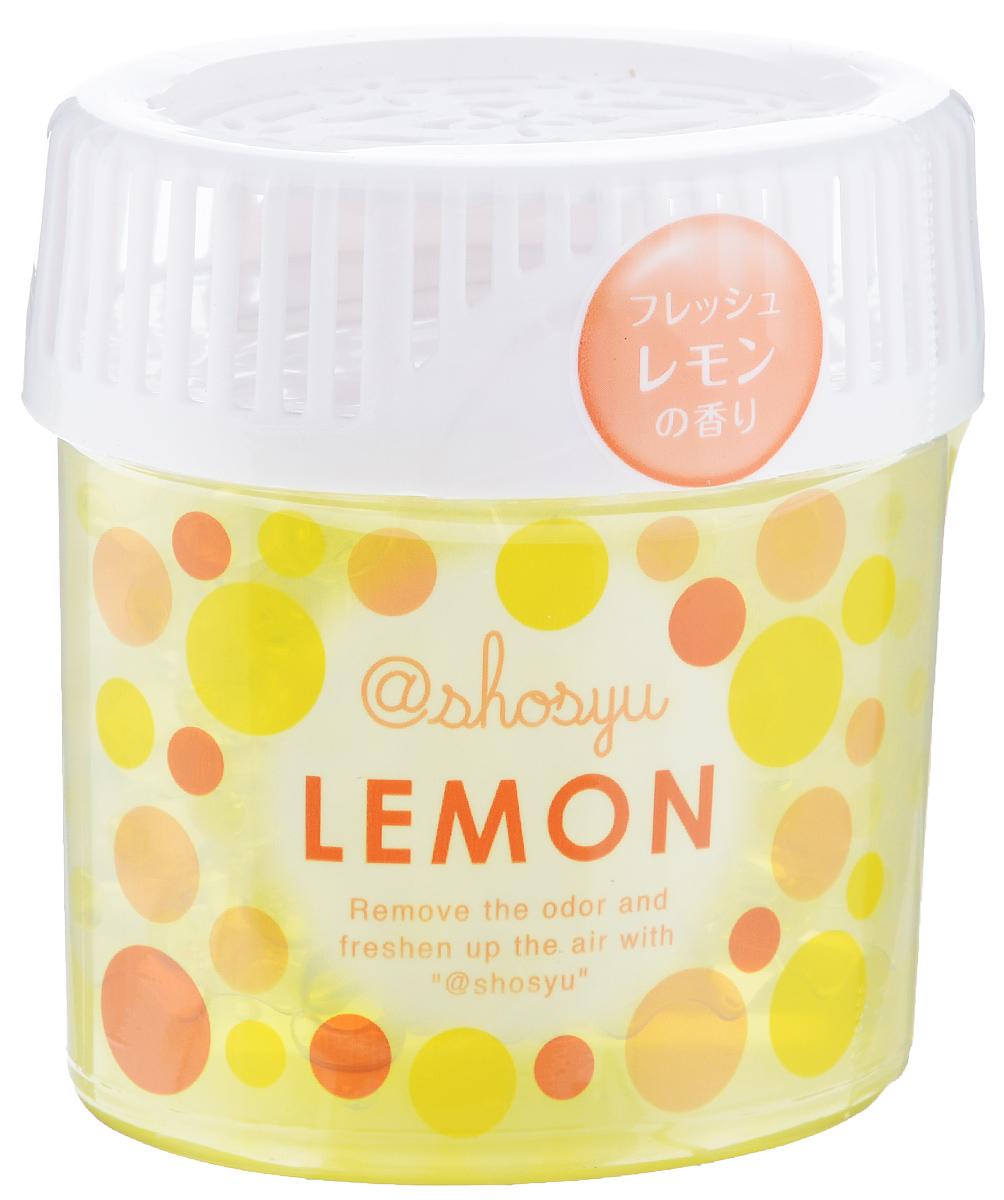 Поглотитель запаха для комнаты Shosyu, в гелевых шариках, аромат лимона, 150 г234769Поглотитель запаха для комнаты в гелевых шариках с ароматом лимона содержит дезодорирующий компонент растительного происхождения. Эффективно удаляет неприятные запахи, надолго освежая воздух. В составе содержит натуральные дезодорирующие компоненты. Срок эффективного действия составляет 2-3 месяца, в зависимости от условий использования.