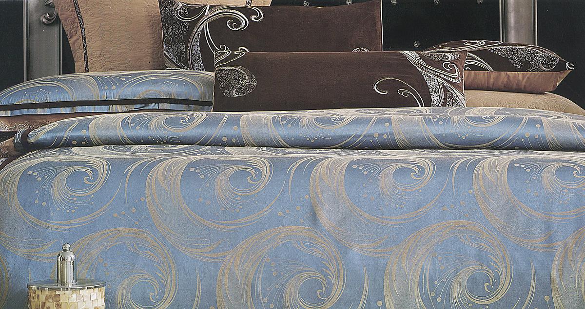 Комплект белья Этель Зимний сон, евро, наволочки 50x70, цвет: бирюзовый, бежевый728787Комплект постельного белья Этель Зимний сон состоит из пододеяльника на молнии, простыни и двух наволочек. Удивительной красоты вышивка, нанесенная на белье, сочетает в себе нежность и теплоту. Постельное белье Этель Зимний сон создано для романтичных натур, которые любят изысканный дизайн. Белье изготовлено из жаккарда (100% хлопка) и отвечает всем необходимым нормативным стандартам. Жаккард - это ткань фактурного плетения, в которой нити очень плотно переплетены и образуют узорчатый рельеф. Это очень практичный материал, неприхотливый в уходе, более долговечный, по сравнению с другими тканями, полученными одним из простых способов плетения. Приобретая комплект постельного белья Этель Зимний сон, вы можете быть уверенны в том, что покупка доставит вам и вашим близким удовольствие и подарит максимальный комфорт.