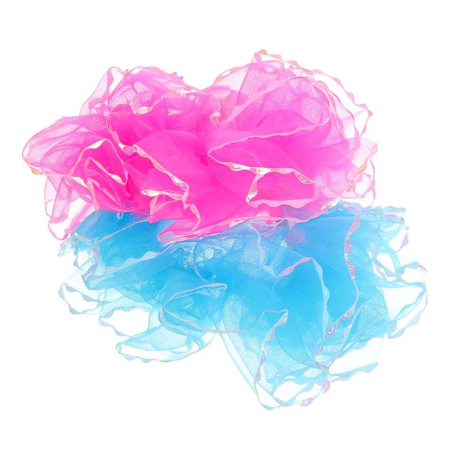 Набор резинок для волос Fashion House, цвет: розовый, голубой, 2 шт. FH30898FH30898Резинки для волос Fashion House станут отличным дополнением к прическе вашей малышки. В набор входят две оригинальные резинки из органзы разных цветов. Резиночки хорошо тянутся и прекрасно держат волосы. Диаметр резинки: 5 см.