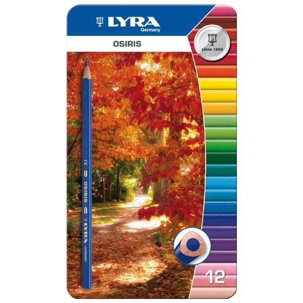 Цветные карандаши Lyra Osiris, в металлической коробке, 12 цветовL2521133Цветные карандаши Lyra Osiris непременно, понравятся вашему юному художнику. Набор включает в себя 12 ярких насыщенных цветных карандаша треугольной формы для удобного захвата. Идеально подходят для школы. Карандаши изготовлены из дерева, экологически чистые, с лакированным покрытием. Имеют прочный неломающийся грифель, не требующий сильного нажатия и легко затачиваются. Упакованы в удобный металлический футляр. Порадуйте своего ребенка таким восхитительным подарком! В комплекте: 12 карандашей.