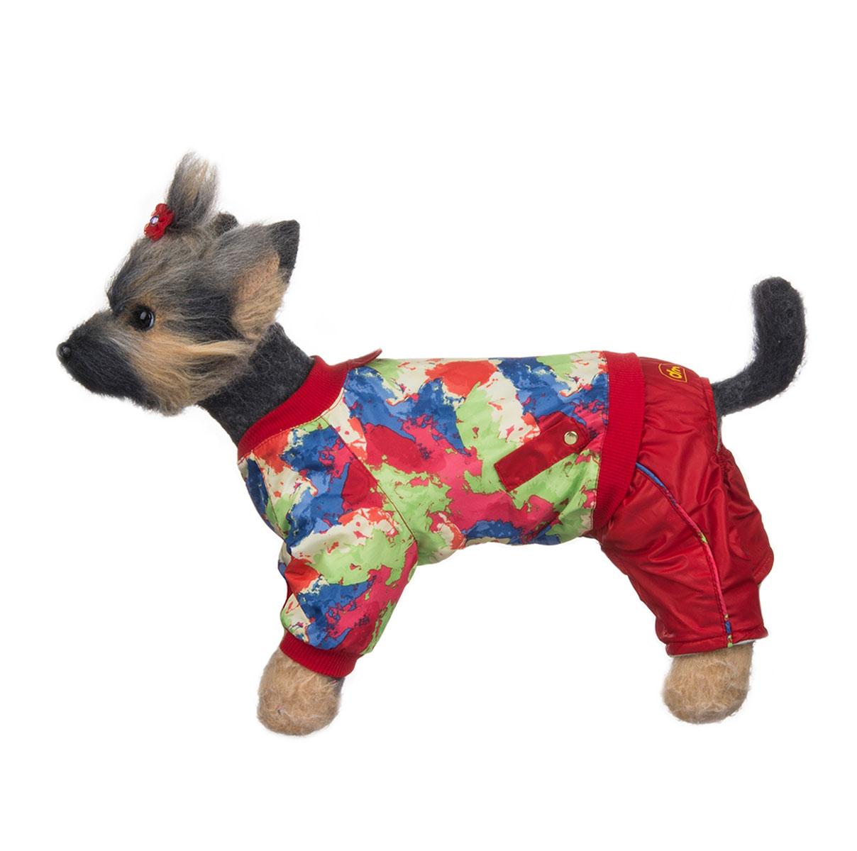 Комбинезон для собак Dogmoda Акварель, для девочки, цвет: красный, синий, зеленый. Размер 1 (S)DM-150311-1Комбинезон для собак Dogmoda Акварель отлично подойдет для прогулок поздней осенью или ранней весной. Комбинезон изготовлен из полиэстера, защищающего от ветра и осадков, с подкладкой из флиса, которая сохранит тепло и обеспечит отличный воздухообмен. Комбинезон застегивается на кнопки, благодаря чему его легко надевать и снимать. Ворот, низ рукавов оснащены широкими трикотажными манжетами, которые мягко обхватывают шею и лапки, не позволяя просачиваться холодному воздуху. На пояснице комбинезон декорирован трикотажной резинкой. Благодаря такому комбинезону простуда не грозит вашему питомцу и он не даст любимцу продрогнуть на прогулке.